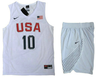 2016 Olympics Team USA Men s  10 Kyrie Irving Revolution 30 Swingman White  Jersey Shorts 5ef5c8516