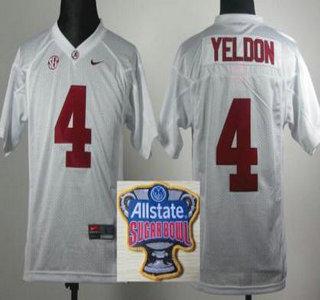 Alabama Crimson Tide  4 T.J Yeldon 2014 All State Sugar Bowl Game Patch  White Kids f1244b2af