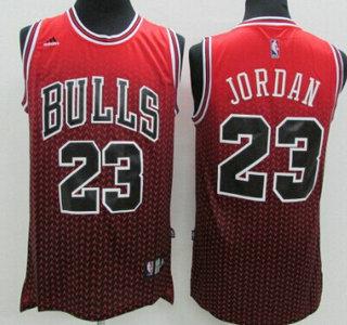 Chicago Bulls #23 Michael Jordan Red/Black Resonate Fashion Jersey