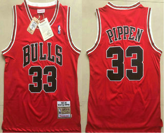 d871f1d1f80 Chicago Bulls  33 Scottie Pippen 1997-98 Red Hardwood Classics Soul Swingman  Throwback Jersey