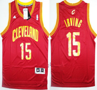 a77a1907a Throwback Jersey Cleveland Cavaliers 15 Kyrie Irving Red Revolution 30 Swingman  Jersey ...