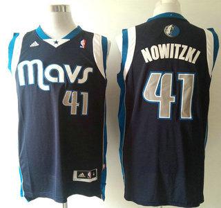 d8c483559 Dallas Mavericks  41 Dirk Nowitzki Revolution 30 Swingman Navy Blue Jersey