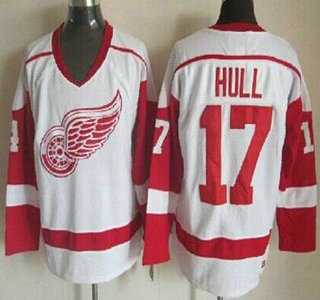 new style c4768 eff4f Detroit Red Wings #17 Brett Hull Red Throwback CCM Jersey