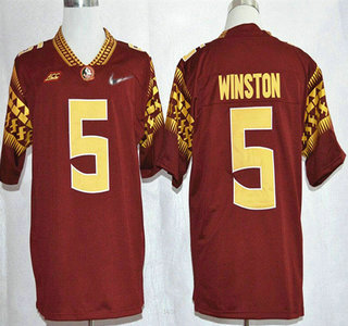 florida state seminoles 5 jameis winston 2015 playoff rose bowl special event diamond quest red