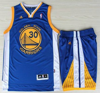 2b488c3f7f39 ... Golden State Warriors 30 Stephen Curry Blue Revolution 30 Swingman  Jerseys Shorts NBA Suits ...