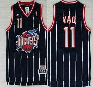 pretty nice 6bad3 dbe8c Houston Rockets #11 Yao Ming ABA Hardwood Classic Swingman ...