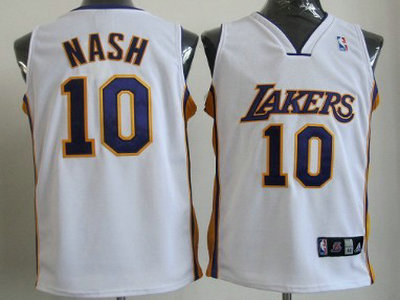 915c76a53 los angeles lakers 10 steve nash gray static fashion jersey