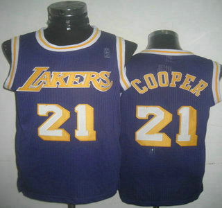 9cf6c97fbbb ... Los Angeles Lakers 21 Michael Cooper Purple Revolution 30 Authentic  Jersey Mens ...