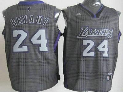 64c29232470 ... Los Angeles Lakers 24 Kobe Bryant Black Rhythm Fashion Jersey ...