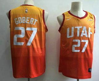 ... Swingman Stitched NBA Jersey   21. Men s Utah Jazz  27 Rudy Gobert 2017- 2018 City Edition 5 For The Fight 8463b1367