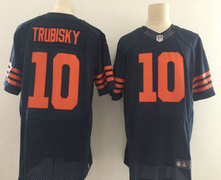 check out 4d24e 3cff4 Men's 2017 NFL Draft Chicago Bears #10 Mitchell Trubisky ...