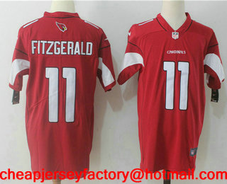 f61e698ef61 ... norway mens arizona cardinals 11 larry fitzgerald red 2017 vapor  untouchable stitched nfl nike limited jersey