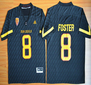 timeless design f4a0f fbb47 Men's Arizona State Sun Devils #8 D.J. Foster Black Desert ...