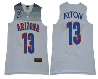 48ba5956399 Men s Arizona Wilcats  13 Deandre Ayton White College Throwback Stitched Basketball  Jersey
