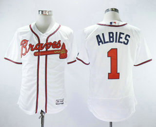 timeless design 2ebee 4141e get braves 1 ozzie albies red new cool base stitched mlb ...