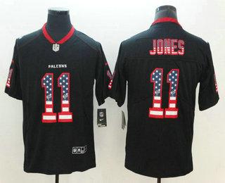 Men s Atlanta Falcons  11 Julio Jones 2018 USA Flag Fashion Black Color  Rush Stitched Nike 9f4b2ae77
