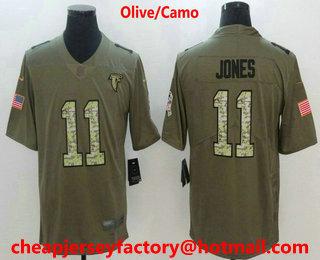 Men s Atlanta Falcons  11 Julio Jones Olive With Camo 2017 Salute To  Service Stitched NFL 03352bd6b