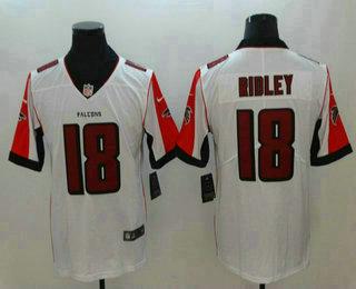 Men s Atlanta Falcons  18 Calvin Ridley White 2018 Vapor Untouchable  Stitched NFL Nike Limited Jersey 7da6a59ec