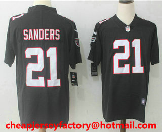 031e434c5 ... Mens Atlanta Falcons 21 Deion Sanders Black 2017 Vapor Untouchable  Stitched NFL Nike Limited Jersey ...