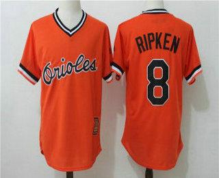 e750650cd46 ... Replica Orange Jersey Mens Baltimore Orioles 8 Cal Ripken Jr. Orange  Pullover Stitched MLB Majestic Cool Base .