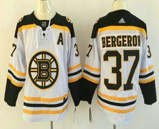 brand new fec99 2db65 Men's Boston Bruins #37 Patrice Bergeron White With A Patch ...