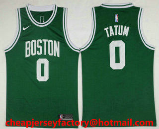 17d6e404c27 Men s Boston Celtics  0 Jayson Tatum Green 2017-2018 Nike Icon Edition  Swingman Jersey
