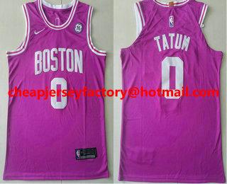 best website 8bdcf 867b8 Men's Boston Celtics #0 Jayson Tatum Red 2017-2018 Nike ...