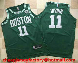 reputable site bd9cb cc58d Men's Boston Celtics #11 Kyrie Irving Black 2017-2018 Nike ...