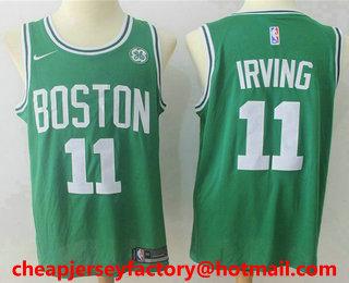 827aea9db Men s Boston Celtics  11 Kyrie Irving Green 2017-2018 Nike Swingman  Stitched NBA Jersey