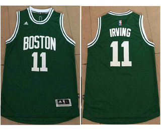 807779fa59a Men s Boston Celtics  11 Kyrie Irving Green Stitched NBA Revolution 30 Swingman  Jersey
