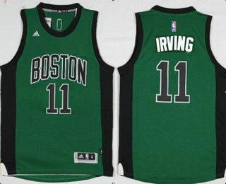 buy online 7f05f 599b5 Men's Boston Celtics #11 Kyrie Irving Green With Black ...