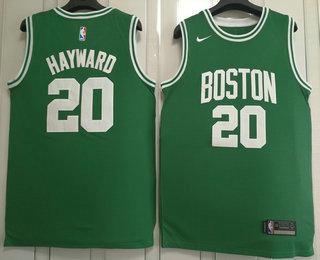 ac826a29032 Men's Boston Celtics #20 Gordon Hayward Green 2017-2018 Nike Swingman  Stitched NBA Jersey