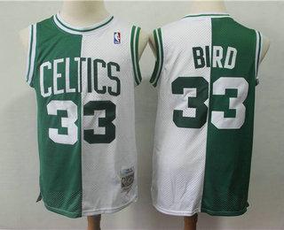 8a8a5fbd8 Men s Boston Celtics  33 Larry Bird 1985-86 Green With White Two Tone  Hardwood