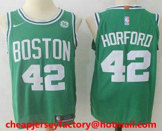 e2303795c Men s Boston Celtics  42 Al Horford Green 2017-2018 Nike Authentic General  Electric Stitched
