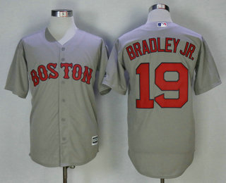 b2d6ef83a Men's Boston Red Sox #19 Jackie Bradley Jr. Gray Road Stitched MLB Cool Base