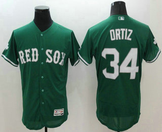345f1f27eb2 Men s Boston Red Sox  34 David Ortiz Green Celtic Flexbase Authentic  Collection Player Jersey