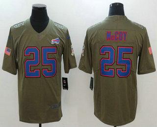 ... Jersey Mens Buffalo Bills 25 LeSean McCoy Olive 2017 Salute To Service  Stitched NFL Nike Limited Bills Jim Kelly 12 ... ac5aa2b31