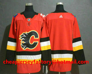 e865923cf Men's Calgary Flames Blank Gaudreau Red Drift Fashion Adidas Stitched NHL  Jersey