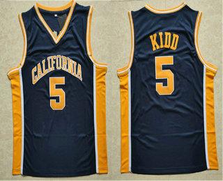 ef528347 Men's California Golden Bears #5 Jason Kidd Navy Blue College Basketball  Swingman Jersey