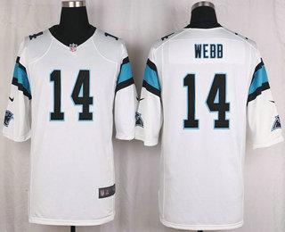 f18b7266d Men s Carolina Panthers  56 AJ Klein White Road NFL Nike Game Jersey