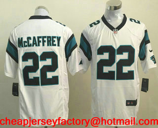67b1e2af66b ... new zealand mens carolina panthers 22 christian mccaffrey white road  stitched nfl nike game jersey a9d9d
