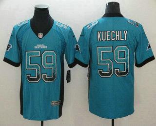 aeef32a13 Men's Carolina Panthers #59 Luke Kuechly Blue 2018 Fashion Drift Color Rush  Stitched NFL Nike