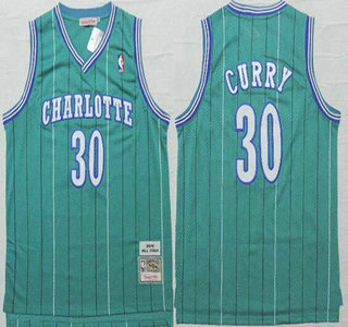 sale retailer 1ad59 f3155 Men's Charlotte Hornets #30 Dell Curry Green Hardwood ...