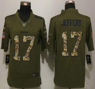 mens chicago bears 17 alshon jeffery green salute to service 2015 nfl nike limited jersey