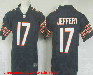 0a41746841f Men s Chicago Bears  17 Alshon Jeffery Navy Blue 2016 Color Rush Stitched NFL  Nike Limited