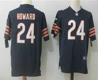 1a962e07a2f Men s Chicago Bears  24 Jordan Howard Navy Blue Team Color Stitched NFL  Nike Game Jersey