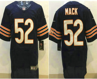 online store 7d681 e7404 Men's Chicago Bears #52 Khalil Mack White Stitched NFL Nike ...