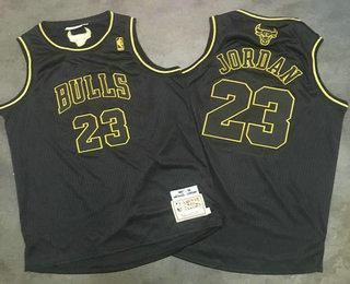 detailed look 2e1f0 76739 Men's Chicago Bulls #23 Michael Jordan 1996-97 Black ...