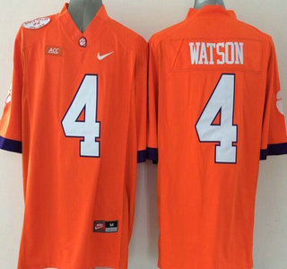 ... Mens Clemson Tigers 4 Deshaun Watson Orange 2015 NCAA Football Nike  Jersey ... e1bcf44a8