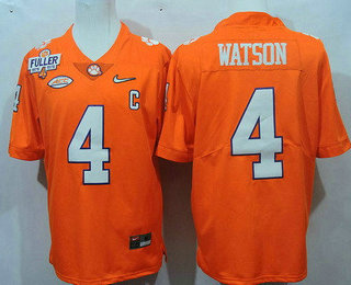 Limited Jersey - White Mens Clemson Tigers 4 Deshaun Watson Orange 2017  Playoff ... ecadfe0b0